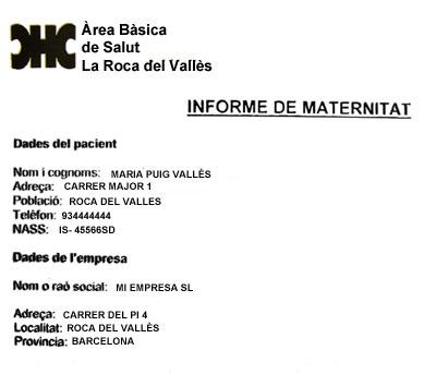 Trámites nacimiento Barcelona - Baja Maternal - Documentación